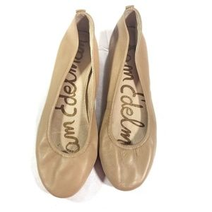 Sam Edelman Noah Nude leather Ballet Flats